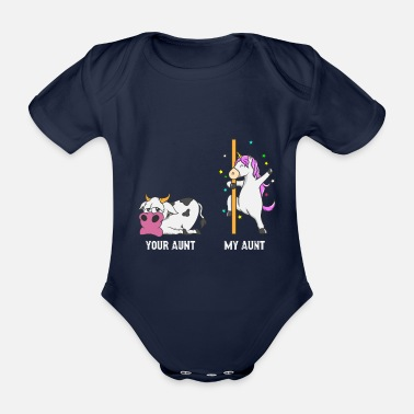 Tante Unicorn Cow Your tante My tante Gift NL - Baby bio-rompertje met korte mouwen
