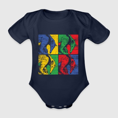 Anteater ant bear south america animal gift - Organic Short-sleeved Baby Bodysuit