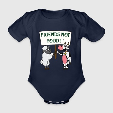 friends - Organic Short-sleeved Baby Bodysuit