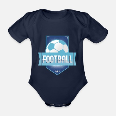 Football Football Football - Organic Short-Sleeved Baby Bodysuit