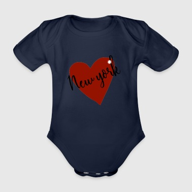 Love NY I heart new york design - Organic Short-sleeved Baby Bodysuit