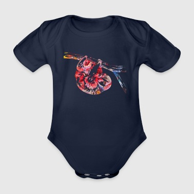 Sloth Summer Multicolored Shirt - Organic Short-sleeved Baby Bodysuit