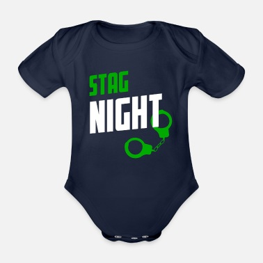 Stag Do Stag Night STAG DO - Organic Short-Sleeved Baby Bodysuit