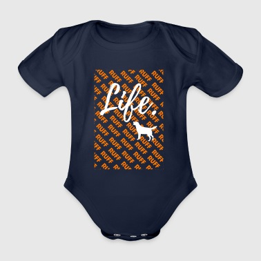 Ruff Life - Golden Retrievers Dog T-Shirt - Body ecologico per neonato a manica corta