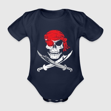 Pirate pirate - Organic Short-sleeved Baby Bodysuit