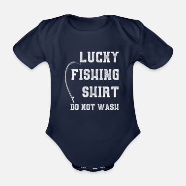 Karper Lucky Fishing Shirt I Fish Fishing Carp Pike - Baby bio-rompertje met korte mouwen