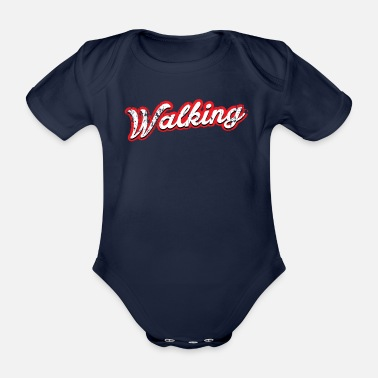 Car walking - vintage & distressed - Organic Short-sleeved Baby Bodysuit