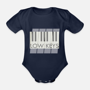 Low-key Piano Piano Low Keys Music - Organic Short-Sleeved Baby Bodysuit