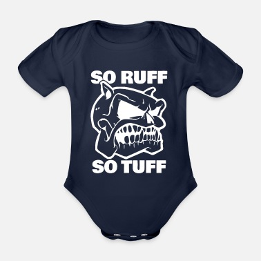 Gold Så Ruff So Tuff Dogs Gift Dog - Økologisk kortermet baby-body