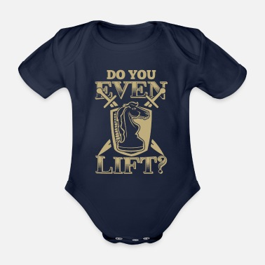 Schach Do You Even Lift Schach Chess Geschenk - Baby Bio-Kurzarm-Body