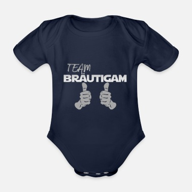 Hen Party Team Groom JGA Bachelor Party T-Shirt - Organic Short-sleeved Baby Bodysuit