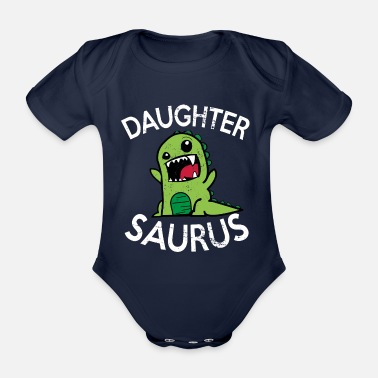 Dinosaure daughtersaurus - Body bébé bio manches courtes