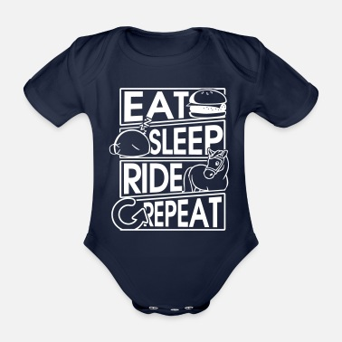 Horseman Eat Sleep Ride Repeat Horse Gift Horse Gift - Organic Short-sleeved Baby Bodysuit