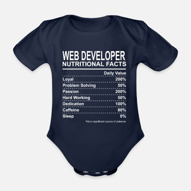 Developer Web Developer Nutritional Facts - Organic Short-Sleeved Baby Bodysuit