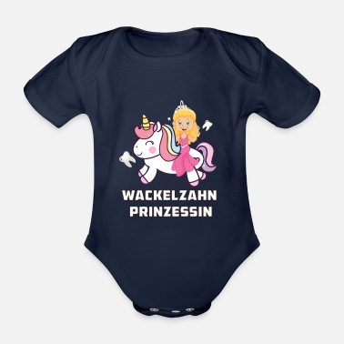 Milk Tooth Wig tooth princess tooth fairy milk tooth princess - Organic Short-Sleeved Baby Bodysuit