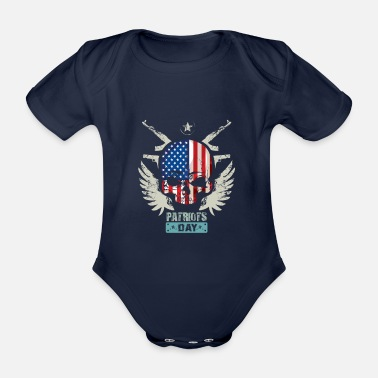 Patriot Patriots USA Patriots Day - Økologisk kortermet babybody