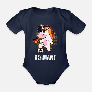 National Team National Team Unicorn - Organic Short-Sleeved Baby Bodysuit