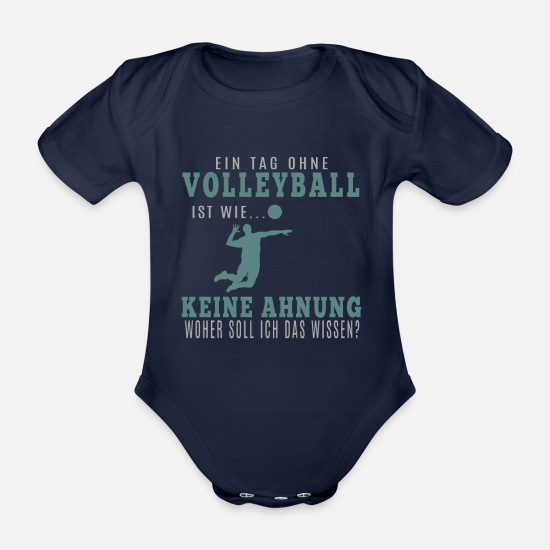 Gift Idea Baby Clothes - Volleyballer Shirt · Volley Club · Volley Gift - Organic Short-Sleeved Baby Bodysuit dark navy