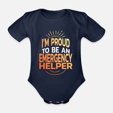 Date Of Birth emergency Responders - Organic Short-Sleeved Baby Bodysuit