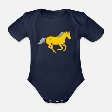 Gallop Horse gallop - Organic Short-Sleeved Baby Bodysuit