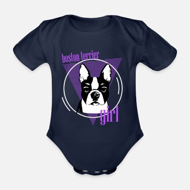 We Are Boston Terriers, Boston Terriers, Dogs For Boston Terriers - Organic Short-Sleeved Baby Bodysuit