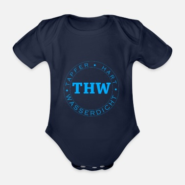 Thw THW Technical Relief Valiant Hard Waterproof - Organic Short-Sleeved Baby Bodysuit