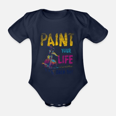 Painting Paint painting - Organic Short-Sleeved Baby Bodysuit