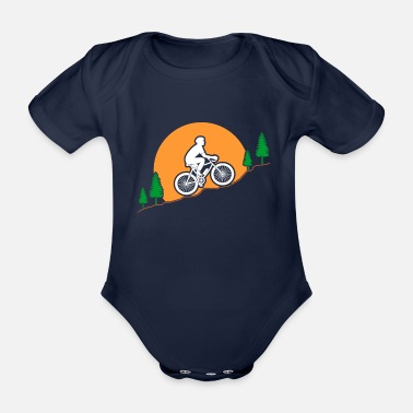 Mountain Biker Mountain bikers - Organic Short-Sleeved Baby Bodysuit
