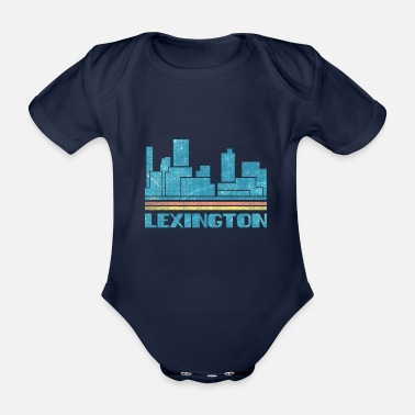City Lexington City Skyline Retro Stadtbild 70er 80er Jahre Vin - Baby Bio Kurzarmbody