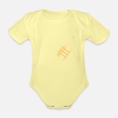 Trumpet Player Trumpet trumpet player - Organic Short-Sleeved Baby Bodysuit