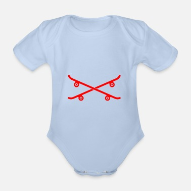 Freestyle Skateboards skateboard boards gift idea - Organic Short-Sleeved Baby Bodysuit