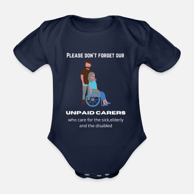 Carer Unpaid Carers - Organic Short-Sleeved Baby Bodysuit