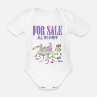 Bedroom Vaporwave Bedroom For Sale - Organic Short-Sleeved Baby Bodysuit