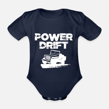 Brother Power Drift Off-road 4x4 4wd Gift - Organic Short-sleeved Baby Bodysuit