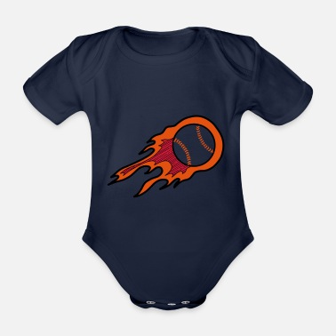 Strike Throw the Heat Baseball Home Run Geschenk - Baby Bio-Kurzarm-Body