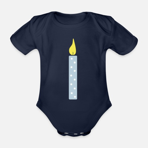 Organic Short Sleeved Baby BodysuitA Candle For The One Year Old 1st Birthday