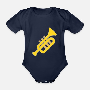 Instrument Tuba play musical instrument brass instrument - Organic Short-sleeved Baby Bodysuit