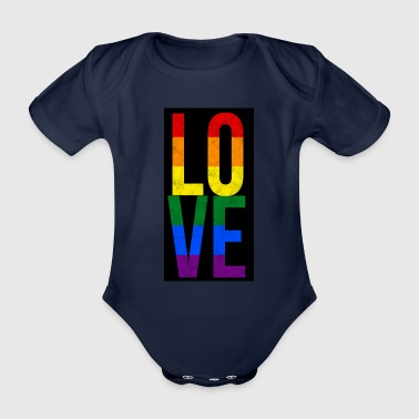 Gay Love Gay Love Outing Shirt Gift - Organic Short-sleeved Baby Bodysuit