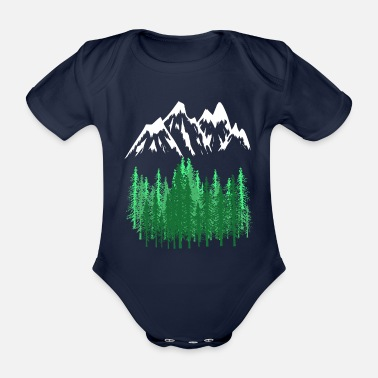 Mountains Mountains Mountains mountaineering - Organic Short-Sleeved Baby Bodysuit