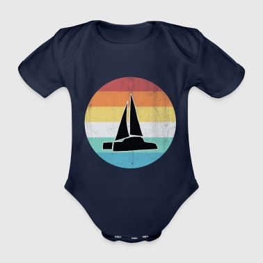 Sun catamaran - Organic Short-sleeved Baby Bodysuit