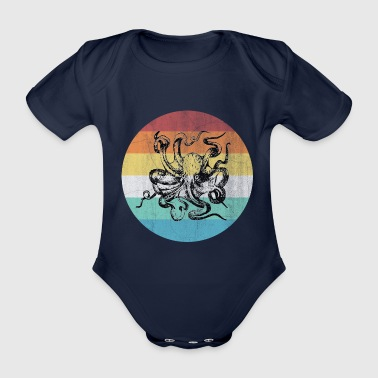 Water Octopus - Organic Short-sleeved Baby Bodysuit
