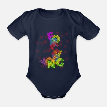 Young forever young - Organic Short-Sleeved Baby Bodysuit