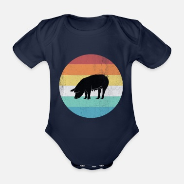 Sow pig - Organic Short-sleeved Baby Bodysuit