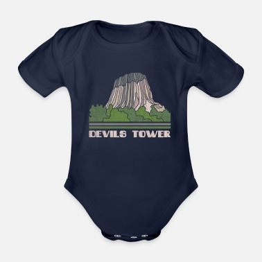 Us Devils Tower Shirt National Monument Nature Souven - Organic Short-Sleeved Baby Bodysuit