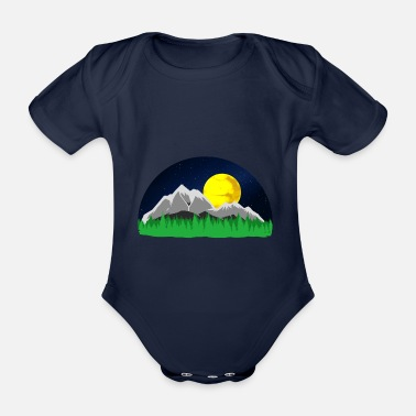 Mountains Mountains Mountains mountains - Organic Short-Sleeved Baby Bodysuit
