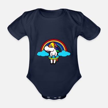 Mythical Divertente fantasia Unicorn Mythical Collection Baby - Body neonato a manica corta