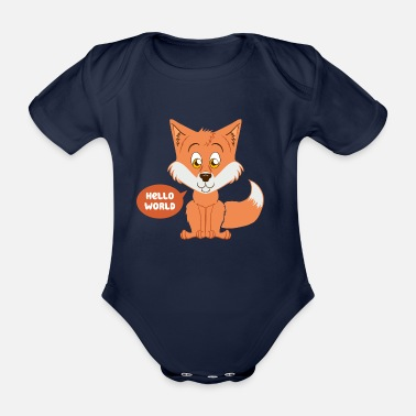 Baby fox as a gift for childbirth - Organic Short-sleeved Baby Bodysuit