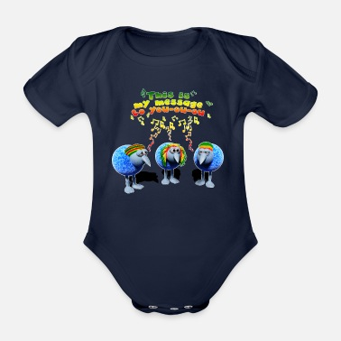 three little RASTA birds - Baby Bio-Kurzarm-Body