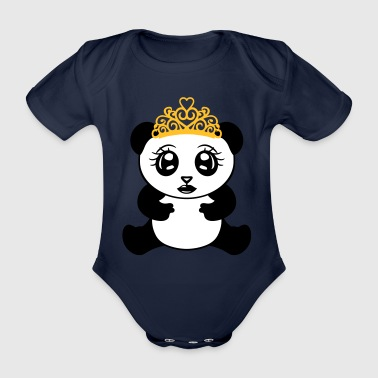 female girl princess crown queen beautiful - Organic Short-sleeved Baby Bodysuit