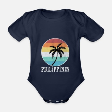 Trip Philippines - Organic Short-sleeved Baby Bodysuit